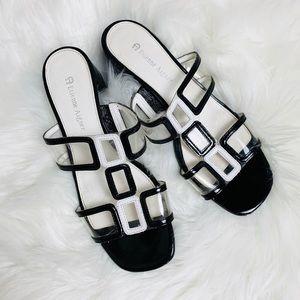 Etienne Aigner Retro Clear Vintage Heels 6.5